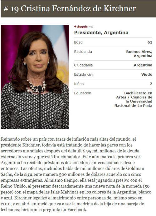 CFK entre las poderosas