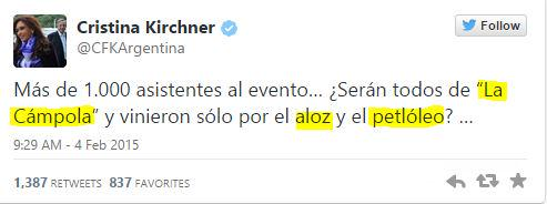 CFK tweet
